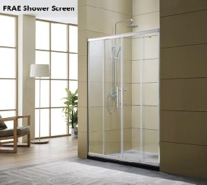 China 2018 New Double Wheel Shower Screen Frame Shower Enclosure ...