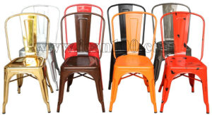 Modern Tolix Steel Chairs with Wooden Seat (DC-05011) pictures & photos