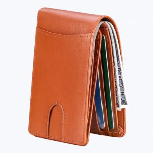 super popular 01b29 25cbf Small Slim Men Wallet Pure Cow Leather Card Holder Wallet