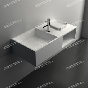 Contemporary Design Solid Surface Wall Hung Bathroom Wash Basin/Sink  (JZ1004)