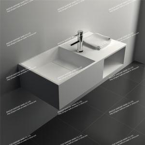 contemporary design solid surface wall hung bathroom wash basinsink jz1004 - Wash Basin Sink