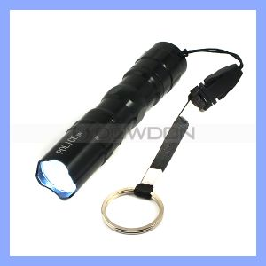 3W Super Bright Police LED Flashlight Light Lamp with Clip Clamp Electric Torch pictures & photos