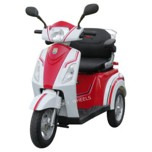 500W48V 3 Wheels Electric Scooter, Electric Tricycle with Deluxe Saddle for Old People (TC-018) pictures & photos