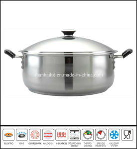 Stainless Steel Big Low Stockpot Cookware pictures & photos