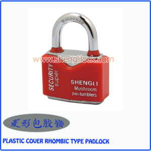 High Quality Waterproof Plastic Cove Rhombic Type Steel Padlock pictures & photos