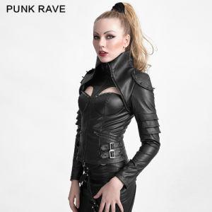 China Y 626 Punk Rivet Studded Sexy Woman High Collar