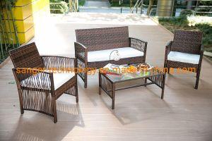 China 4 Pcs Rattan Patio Furniture Set