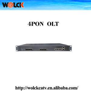 China Gpon Olt Optical Fiber Transceiver Optic 4 Pon Ports