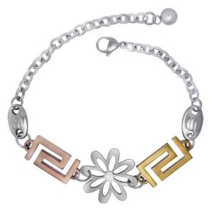 Women Fashion Accessories Bracelets 316L Stainless Steel 14k Rose Gold