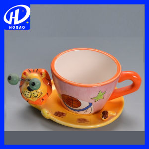 New Cartoon Cow Print Ceramic Cup Tea Milk Coffee Mug with Lid & Spoon pictures & photos