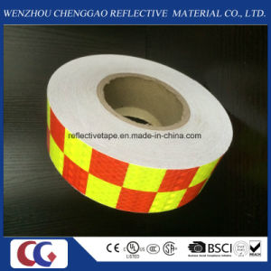 Wholesale Two Colors Grid Design PVC Reflective Material Tape pictures & photos