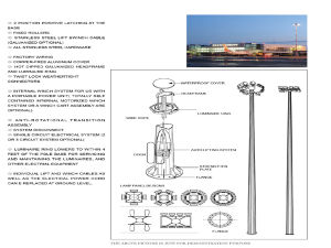 20m/30m Popular Design Highmast Pole