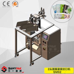 China Factory 2 Head Face Mask Fill Seal Packing Machine