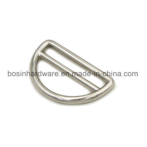 38mm Zinc Alloy Metal D Ring with Bar