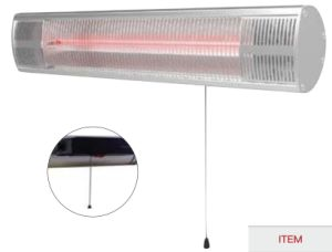 Wall Amounted Household Appliance Electric Infrared Outdoor Heater with IP65