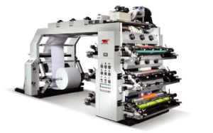 High Speed Four Color PE Film Flexo Printing Machine pictures & photos