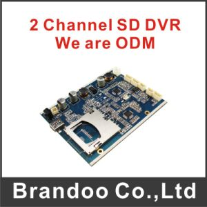 2 Channel DVR Module with 2 Cameras Recording D1 Resolution Supporting 128 GB SD Card Security System