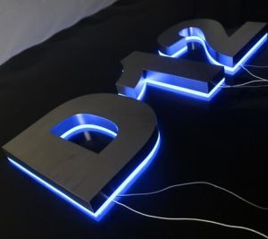 Customized Any Color 3D Back Lit LED Channel Letter on Panel pictures & photos