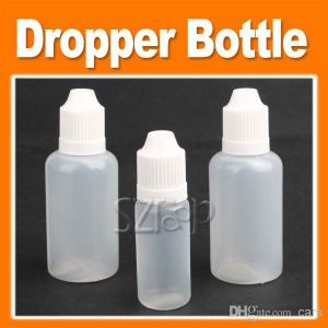 Pet E-Liquid Oil Bottle Dropper 10ml/30ml E-Juice Eliquid Plastic Dropper Bottle E Liquid