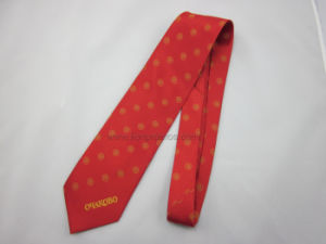 Corporate Logo Jacquard Office Staff Silk/Polyester  Uniform Tie pictures & photos
