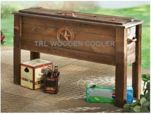 Outdoor Furniture Wooden Patio Cooler Star Scene (WD 1203)