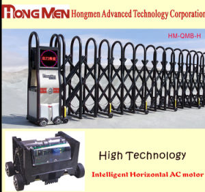 Powder Coated Automatic Retractable Folding Gate (HM-QMB-H)
