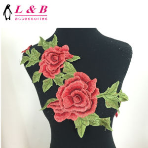 Hot Sale Multicolor Lace Flower Applique Sewing on Patch pictures & photos