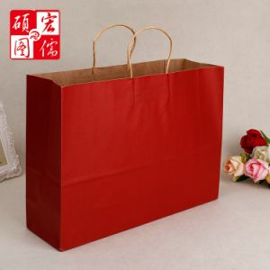 Custom Whole Good Quality Printed Fancy Design Ping Brown Craft Kraft Paper Bag
