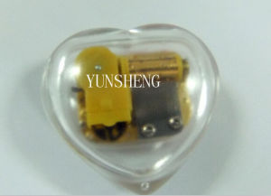 China Factory Supplies High-Quality Cheap Price Transparent Heart Designed Music Box Promotion Items (LP17) C pictures & photos