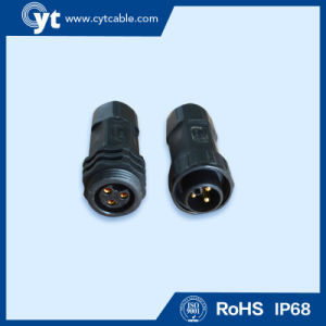 3 Pin Black Male/Female Waterproof Connector pictures & photos