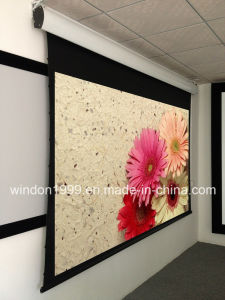 Acoustically Transparent Motorized Tab Tensioned Projection Screen pictures & photos