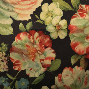 Fashion Flower Printing Suede Fabric for Garment