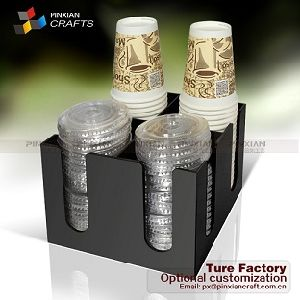 Cup /& Lid Dispenser Organizer Coffee Condiment Holder Caddy Coffee Cup Racks