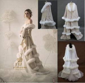 Luxury Bridal Fur Coat Dress Wedding Jacket