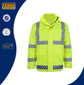 Hi-Vis Waterproof Traffic Police Jacket