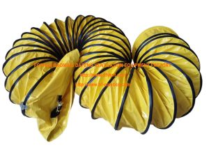 Yellow Nylon Fire Retardant Flex Ducting pictures & photos