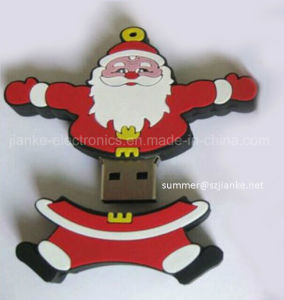 Christmas Santa Claus PVC USB Drive for Promotion Gifts (414)
