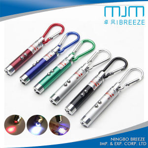 Promotional LED UV Laser Keychain Light Laser LED keychain with Mountain Climing Hook pictures & photos