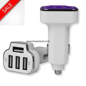 New Top 4 USB Ports Car USB Adapter for Mobile Phone, Car GPS Navigator, Car Black Box pictures & photos