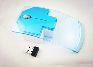 Transparent Optical Modern LED USB 2.4G Wireless 3D Mouse pictures & photos