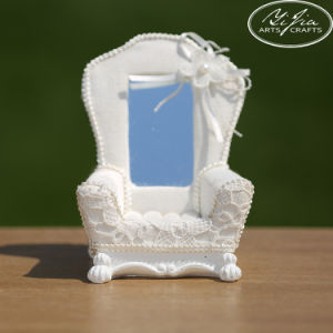 Sofa Design Ring Display Holder White Lace Home Decoration Ornaments Sofa