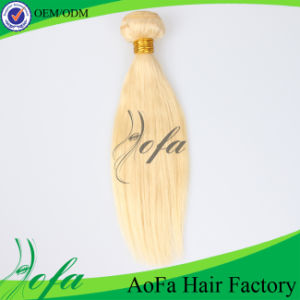7A Grade Indian Virgin Blond Double Drawn Human Hair Weft pictures & photos