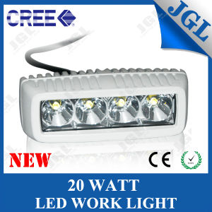 Marine 20W Mini LED Light Bar with White/Black Housing