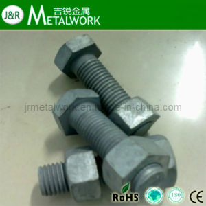 Grade 4.8 Hot DIP Galvanized Hex Bolt and Nut pictures & photos