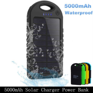 Dual USB 5000mAh Waterproof Portable Solar Power Bank Battery Charger pictures & photos