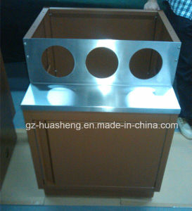Kitchen Cabinet with Metal (HS-051) pictures & photos