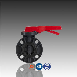 DIN ASTM JIS Handled PVC Butterfly Valve for Water Supply pictures & photos
