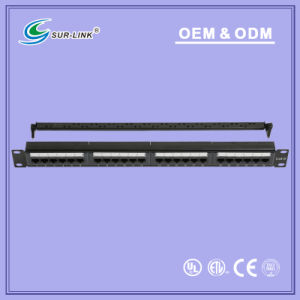 UTP CAT6 Dual IDC 24 Port Back Bar Patch Panel pictures & photos