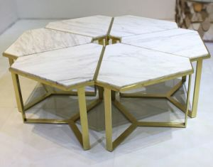 Flower White Marble Coffee Table for Home or Hotel (CCT-032)