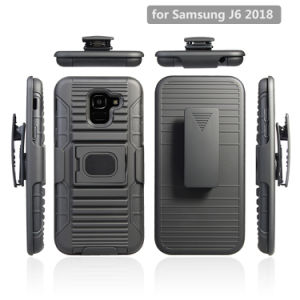 New Arrival Rugged Belt Clip Funda Holster Phone Case for Samsung Galaxy J6 2018